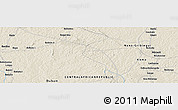"""Shaded Relief Panoramic Map of the area around 6°28'13""""N,18°46'29""""E"""