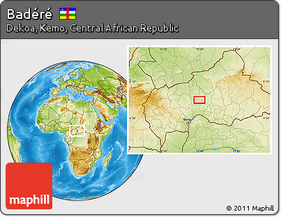 Physical Location Map of Badéré