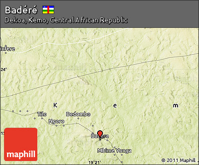 Physical Map of Badéré