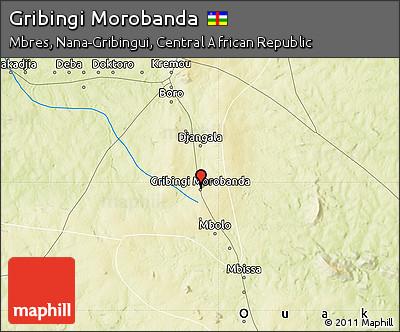 Physical Map of Gribingi Morobanda