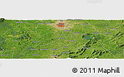 "Satellite Panoramic Map of the area around 6° 28' 13"" N, 1° 37' 30"" W"