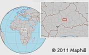 Gray Location Map of Babigoua