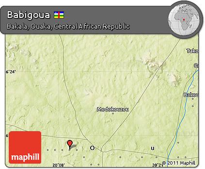 Physical Map of Babigoua