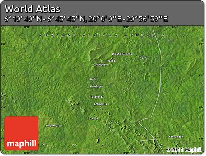 "Satellite Map of the Area around 6°28'13""N,20°28'30""E"