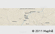Shaded Relief Panoramic Map of Babigoua