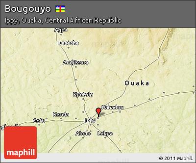 Physical 3D Map of Bougouyo
