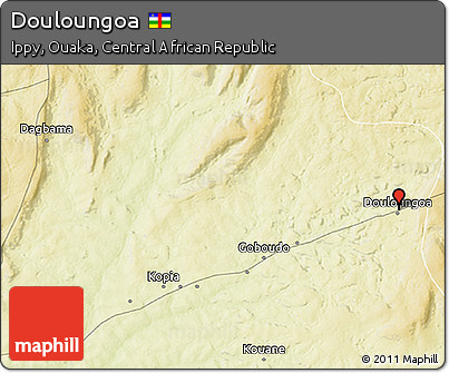 Physical 3D Map of Douloungoa