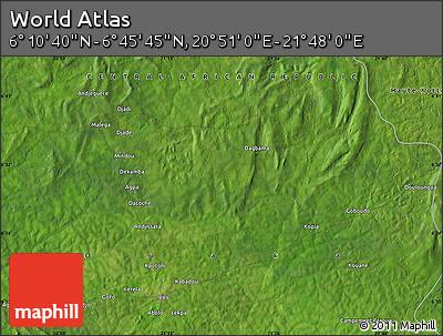 "Satellite Map of the Area around 6°28'13""N,21°19'30""E"