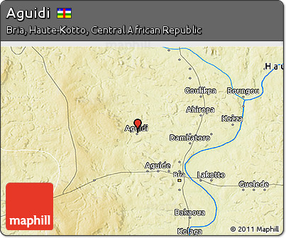 Physical 3D Map of Aguidi