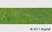 Satellite Panoramic Map of Aguidi