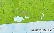 """Physical Map of the area around 6°28'13""""N,2°37'30""""E"""