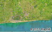 "Satellite Map of the area around 6°28'13""N,2°37'30""E"