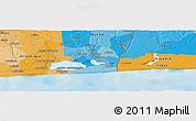 Political Panoramic Map of Bokoutou