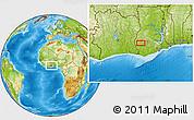 Physical Location Map of Bibiani