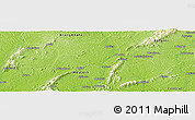 "Physical Panoramic Map of the area around 6° 28' 13"" N, 2° 28' 30"" W"
