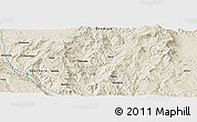 Shaded Relief Panoramic Map of Dalo Galalo