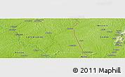 Physical Panoramic Map of Ahuinékrou