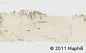 "Shaded Relief Panoramic Map of the area around 6° 28' 13"" N, 40° 1' 29"" E"