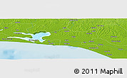 "Physical Panoramic Map of the area around 6° 28' 13"" N, 4° 19' 30"" E"