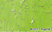"""Physical Map of the area around 6°28'13""""N,5°1'30""""W"""