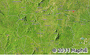 """Satellite Map of the area around 6°28'13""""N,5°1'30""""W"""