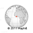 """Outline Map of the Area around 6° 28' 13"""" N, 5° 1' 30"""" W, rectangular outline"""