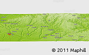 """Physical Panoramic Map of the area around 6°28'13""""N,6°1'30""""E"""