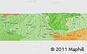 """Political Panoramic Map of the area around 6°28'13""""N,6°1'30""""E"""