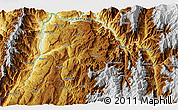 """Physical 3D Map of the area around 6°28'13""""N,73°1'30""""W"""