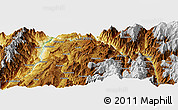 """Physical Panoramic Map of the area around 6°28'13""""N,73°1'30""""W"""