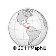 Outline Map of Medellin, rectangular outline