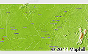 """Physical 3D Map of the area around 6°28'13""""N,8°34'29""""E"""