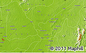 """Physical Map of the area around 6°28'13""""N,8°34'29""""E"""