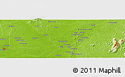 """Physical Panoramic Map of the area around 6°28'13""""N,8°34'29""""E"""