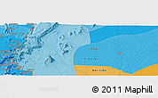 """Political Panoramic Map of the area around 6°59'36""""N,0°55'29""""E"""