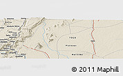 """Shaded Relief Panoramic Map of the area around 6°59'36""""N,0°55'29""""E"""