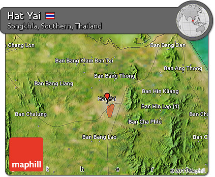 Free Satellite Map of Hat Yai
