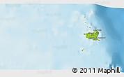 Physical 3D Map of Cagayan de Tawi-Tawi