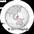 Outline Map of Si Kub, rectangular outline