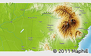 """Physical 3D Map of the area around 6°59'36""""N,125°1'30""""E"""