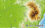 """Physical Map of the area around 6°59'36""""N,125°1'30""""E"""