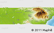 """Physical Panoramic Map of the area around 6°59'36""""N,125°1'30""""E"""