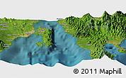 Satellite Panoramic Map of Davao