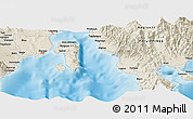 Shaded Relief Panoramic Map of Davao