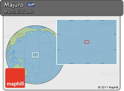 Free Savanna Style Location Map of Majuro