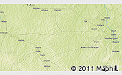 """Physical 3D Map of the area around 6°59'36""""N,18°46'29""""E"""