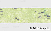 """Physical Panoramic Map of the area around 6°59'36""""N,18°46'29""""E"""