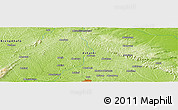"Physical Panoramic Map of the area around 6° 59' 36"" N, 1° 37' 30"" W"