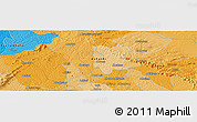 """Political Panoramic Map of the area around 6°59'36""""N,1°37'30""""W"""
