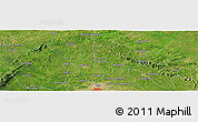 "Satellite Panoramic Map of the area around 6° 59' 36"" N, 1° 37' 30"" W"